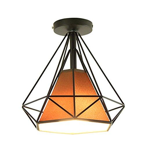 Diamante Lámpara de Techo Retro Vintage Ø25cm Plafón Industrial Luz Colgante E27...
