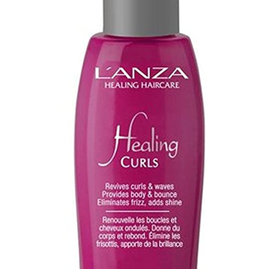 アンザが治療を完成カールカールを癒し(100ミリリットル) x2 - L'Anza Healing Curls Curl Perfecting Treatment (100ml) (Pack of 2) [並行輸入品]