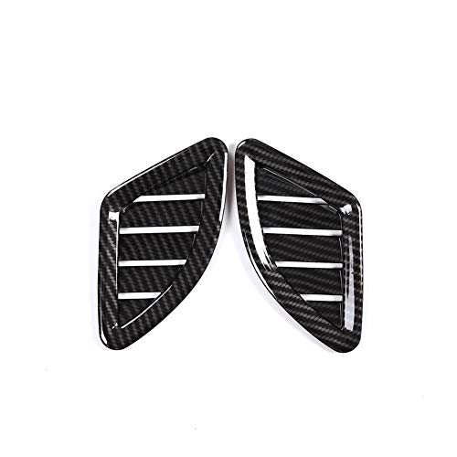 RJJX Home 2 PC fit for BMW X1 F48 2016-2019 Carbon Fiber ABS Chrom Armaturenbrett AC Outlet Vent-Abdeckungs-Ordnung gepasst for BMW X2 F47 2018 Autotechnik