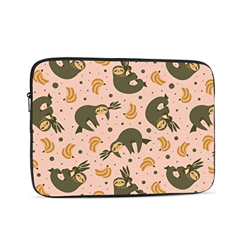 cailedd Cute Sloths Bananas Laptop Sleeve,Carrying Bag Chromebook Case Notebook Bag Tablet Cover