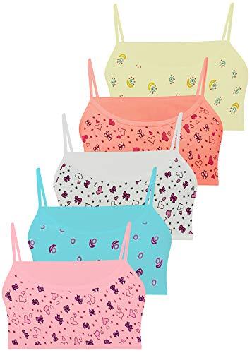 LOREZA ® 5 Mädchen Bustier Baumwolle BH Sport Bra (152-158, M-216-5 Stück)
