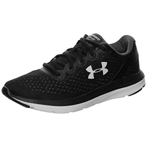 Under Armour womens Charged Impulse Running Shoe, Black (002 White, 10.5 US