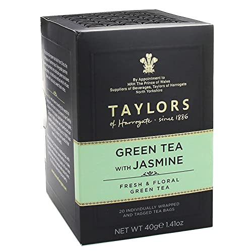 Taylors of Harrogate Green Tea with Jasmine, 20 Count(Pack of 1)