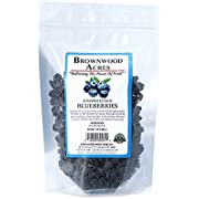 Unsweetened Dried Blueberries by Brownwood Acres - Non-GMO, Gluten Free, Kosher Certified All Natural Healthy Snack Alternative - No Added Sugars, Oils or fillers - Just Blueberries (1/2 Pound)