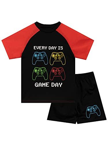 Harry Bear Pijamas Pierna Corta para Niños Gaming Negro 11-12 Años