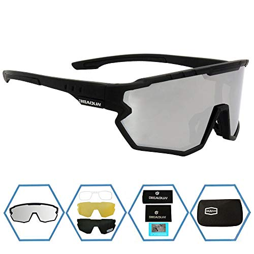 GIEADUN Sports Sunglasses Protection Cycling Glasses Polarized UV400 for Cycling, Baseball,Fishing, Ski Running,Golf (Silver)