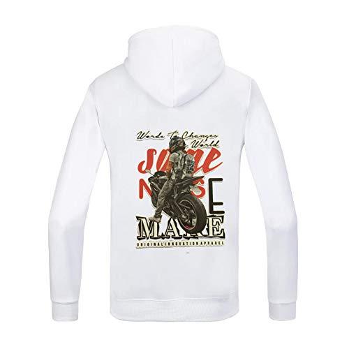 HOSD Motocicleta de los la de la de Hombres Suéter Mochila de la impresión de Mujeres Hombres y Capucha para suéter Suelta con Moda