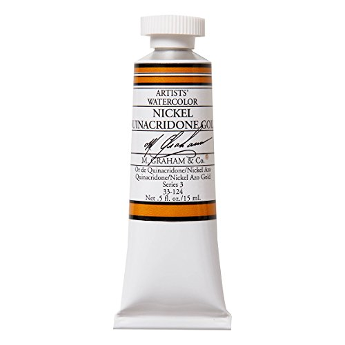 M. Graham 1/2-Ounce Tube Watercolor Paint, Nickel Quinacridone Gold