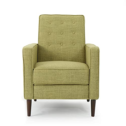 GDFStudio Mason Mid-Century Modern Tuft Back Recliner (Qty of 1, Fabric/Muted Green)