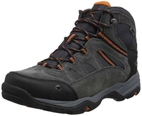 HI-TEC BANDERRA II WP, Stivali da Escursionismo Alti Uomo, Grigio (Charcoal/Graphite/Burnt Orange 51), 42 EU