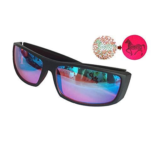 Gafas Daltónicas De Rojo/Verde Material De La PC Fotograma Completo Gafas Correctivas Mejorar La Resolución Trastorno De La Visión Del Color Enviar Gafas Caso Macho/femenino