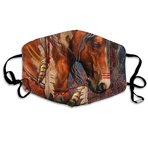 Spirit Oorlog Paard Gedrukt Gezichtsdecoraties Voor Vrouwen En Mannen