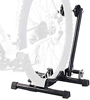 CyclingDeal Best Bike Floor Parking Rack Storage Stand Bicycle-for Mountain and Road Bike Indoor Outdoor Nook Garage
