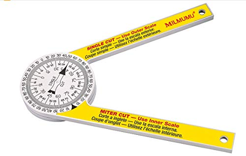Miter Saw Protractor replace the model #505P-7 for carpenters, Miter Saw Building Angle Ruler is Very Suitable for Renovation Work, Home Improvement and More Building Trades-Yellow