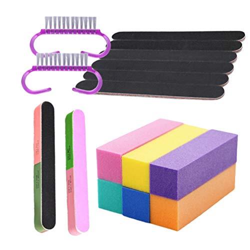 Beaupretty 17St Nagelvijlen en Buffer Set Nagel Buffer Blok Kit Nagel Buffer Blok Mini Nagelborstel Dubbelzijdige Kit Voor Natuurlijke Gel en Acrylnagels