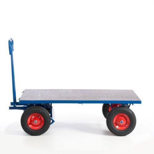 Rollcart 15-05121 Handpritschenwagen ohne Bordwände, RAL5010 enzianblau