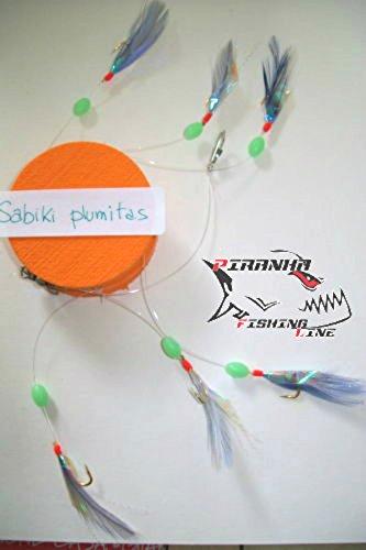 Piranha Fishing Line BOLENTINO SABIKI TERMINALE Blu per SGOMBRI E SUGARELLI