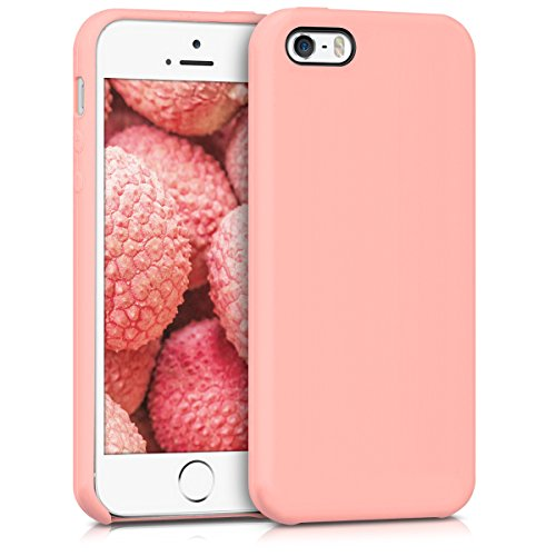 kwmobile Cover Compatibile con Apple iPhone SE (1.Gen 2016) / 5 / 5S - Custodia in Silicone TPU - Back Case Protezione Cellulare Oro Rosa Matt