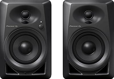 Pioneer Pro DJ Studio Monitor, RCA, Mini-Jack, Black (DM40) by Pioneer Pro DJ