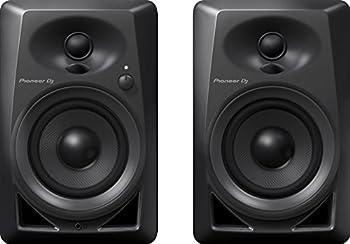 Pioneer DJ Studio Monitor RCA Mini-Jack Black  DM40