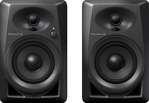 Pioneer Pro DJ Studio Monitor, RCA, Mini-Jack, Black (DM40)