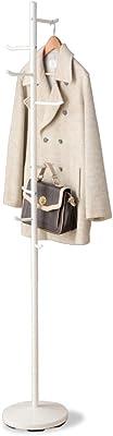 アイリスプラザ ハンガーラック 衣類収納 衣類掛け 落ちにくい 倒れにくい ポールハンガー ホワイト 高さ約175.5cm CW7303-AF