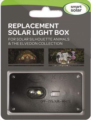 Replacement solar light box for solar silhouette animals