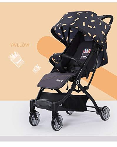 YANGYUAN Cochecito Cochecito Ligero Compacto de Viaje for cochecitos de bebé una Mano Plegable facilitar su Transporte y Almacenamiento Adecuado Desde el Nacimiento hasta 20 kg Amarillo Azul Rojo