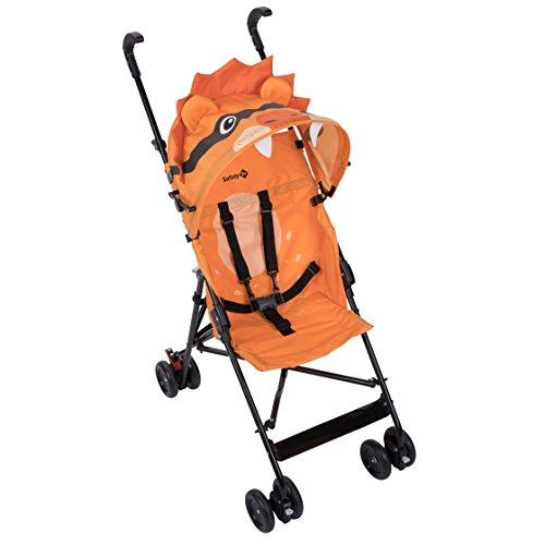 Safety 1st Crazy Peps Passeggino pieghevole, leggero con capottina, Unisex Bambini, Leone, Arancione