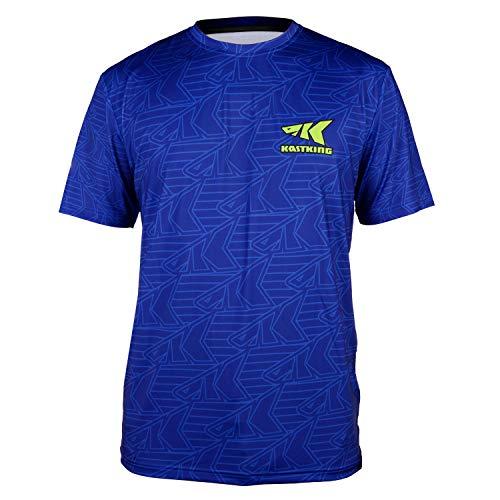 KastKing Performance Fishing Shirt,Short Sleeve, Royal Blue,Small