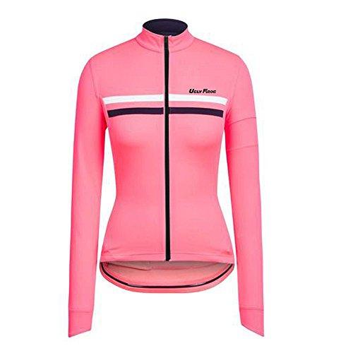 Uglyfrog LJW03 2018-2019 Neue Frühling & Herbst MTB Fahrradtrikot Langarm Shirt Damen Breathable Radfahren Fahrrad Lange Hülsen Jersey Fahrrad Hemd Frauen Langarm Fahrradbekleidung Radfahren