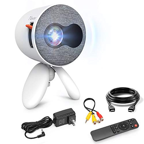Mini Projector, Meer YG220 Pico LCD Video Projector for Children Present,Home Theater,Game,Outdoor Entertainment with HDMI USB AV Micro SD Input and Remote Control
