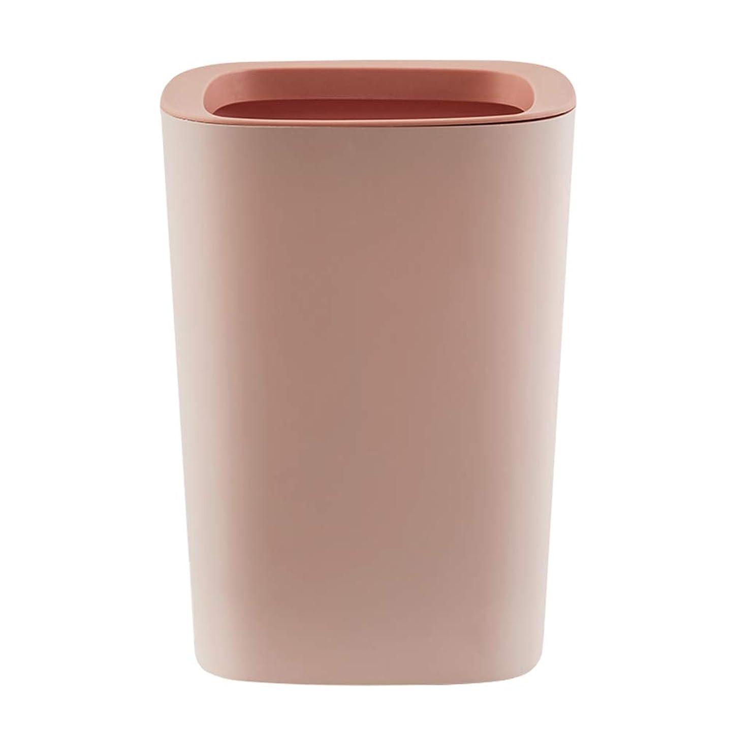 上級ブリークしないゴミ箱家庭用ゴミ箱リビングキッチンバスルームカバーなし圧力リングペーパーバスケットチューブゴミ箱新しい