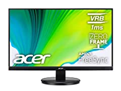 """""""27"""" full hd (1920 x 1080) widescreen va monitor with amd radeon freesync technology"""" response time: 1ms vrb zero frame design refresh rate: 75hz ports: 1 x hdmi port & 1 x vga (vga cable included) Display technology: LED"""