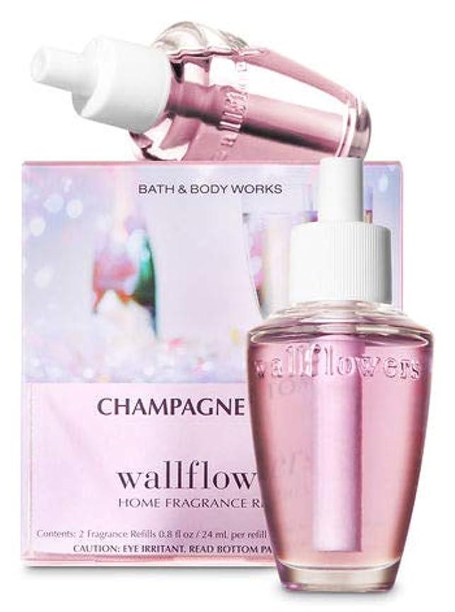 スケートミトン文明【Bath&Body Works/バス&ボディワークス】 ルームフレグランス 詰替えリフィル(2個入り) シャンパントースト Wallflowers Home Fragrance 2-Pack Refills Champagne Toast [並行輸入品]