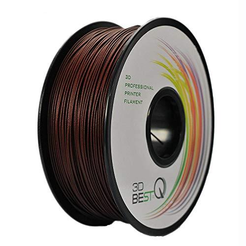 3D BEST-Q Rosewood PLA 1.75mm 3D Printer Filament, Dimensional Accuracy +/- 0.03 mm, 1KG Spool, 30% Real Rosewood-infill