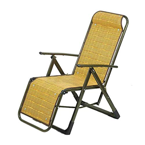 LKK-KK Silla Plegable Almuerzo Rotura Silla Silla de Oficina Sillón reclinable Plegable Silla de bambú
