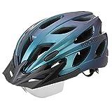 ROCKBROS Casco de Bicicleta MTB Montaña con Visera Magnética Desmontable para Adulto Hombres Mujeres Ciclismo (Azul)