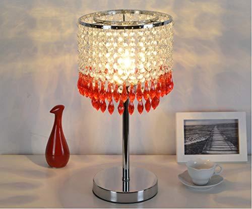 Tafellamp, minimalistisch, modern, hanger van acryl, K9, kristal, rood, paars, groen, poeder, vier kleuren optioneel, E27, hoogwaardig materiaal, basisverlichting, rood