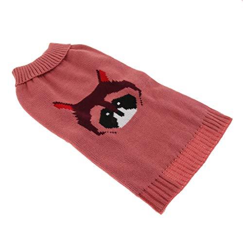 KESOTO Gestrickter Hundepullover Hunde Welpen Strickpulli Strickpullover für Winter - Rosa L
