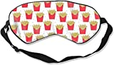Schlafmaske für Erwachsene und Jugendliche, Pommes Frites mit verstellbarem Riemen, Augenmaske für Reisen, Nickerchen, Meditation, Augenbinde