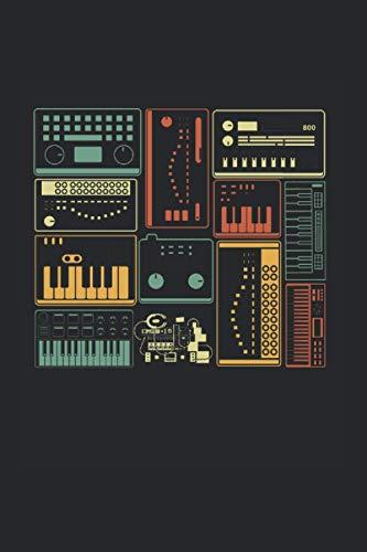 Notizbuch: Analoger modularer Synthesizer Musikproduzent Keyboard Notizbuch DIN A5 120 Seiten für Notizen Zeichnungen Formeln   Organizer Schreibheft Planer Tagebuch