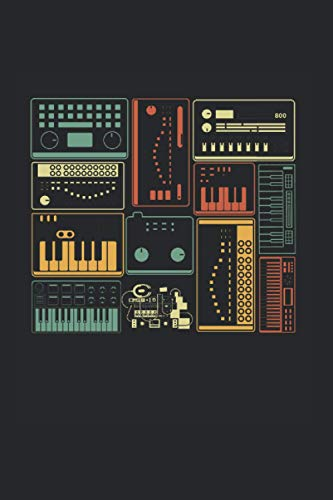 Notebook: Analog Modular Synthesizer Music Producer Keyboard Notebook 6x9 Inches 120 dotted pages for notes, drawings, formulas   Organizer writing book planner diary