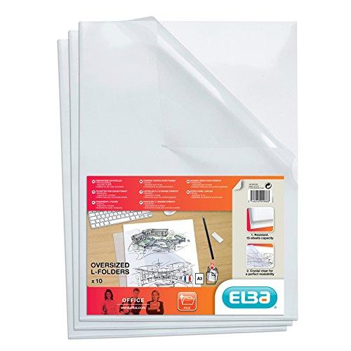 Elba 100206583 Sichthüllen DIN A3 Fard'Clair, aus PP-Folie 0,18 mm