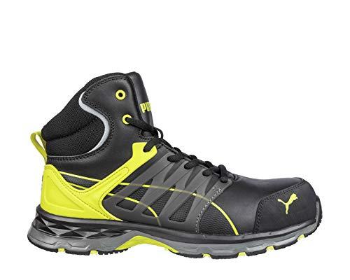 PUMA Safety Unisex PU633880-43 Leichtathletik-Schuh, Nero/Giallo, 43 EU