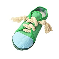 Dog teeth cleaning toys can make sound with its special design, can attract you pets attention. Can help dogs remove their habits of breaking items such as furniture, which can keep your home clean and tidy. Reduce boredom and destructive behavior. S...
