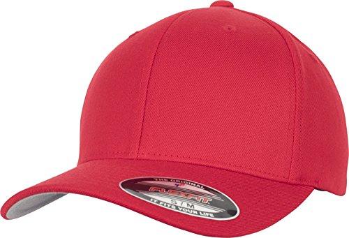 Flexfit Wool Blend Cap, Red, L/XL
