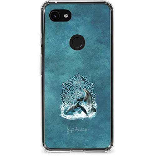Skinit Clear Phone Case Compatible with Google Pixel 3a XL - Originally Designed Celtic Dolphin Design