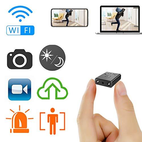 Mini cámara Oculta espía HD WiFi ZTour con visión Nocturna y conexión remota Desde iPhone/Android / iPad y detección de Movimiento y con Ranura de expansión de Memoria 128GB.