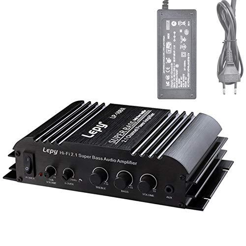 RUIZHI LEPY LP-168S Audio Verstärker 2.1CH Super Bass HI-FI Audio Stereo Endstufe AMP für Auto Motorrad Home Audio Geräte Mit Adapter